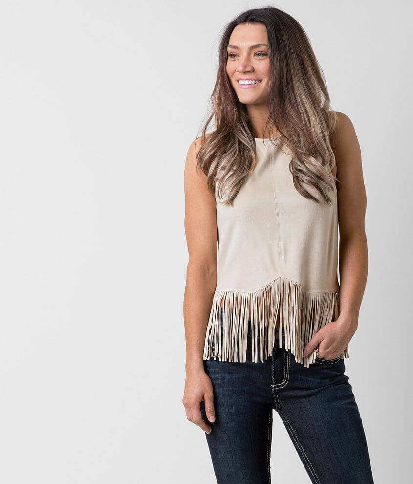 willow & root Fringe Tank Top front view