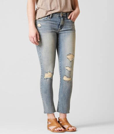 Gilded Intent Mid-Rise Ankle Skinny Stretch Jean