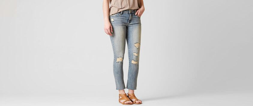 Gilded Intent Mid-Rise Ankle Skinny Stretch Jean front view