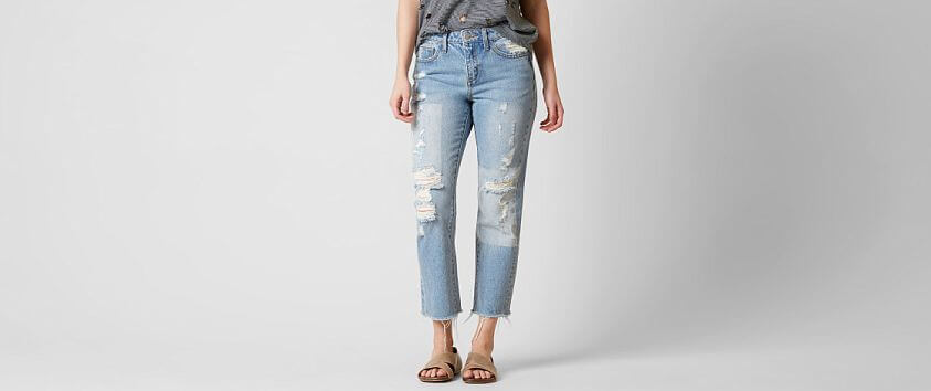 Gilded Intent High Rise Ankle Straight Jean front view