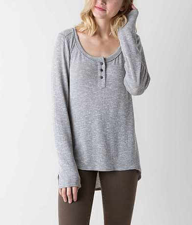 BKE Raw Edge Henley Top