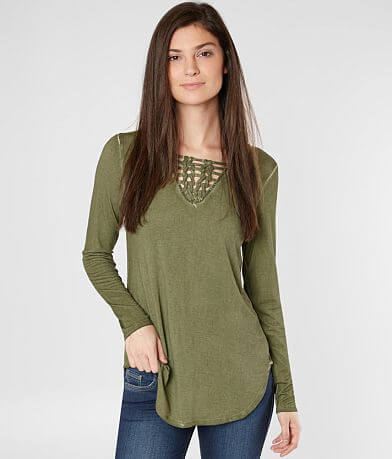 BKE All-Over Washed Top