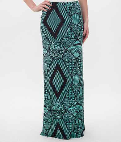 BKE Printed Maxi Skirt