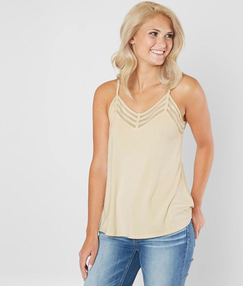 bc50580e1440aa red by BKE Strappy V-Neck Tank Top - Women s Tank Tops in White Cap ...