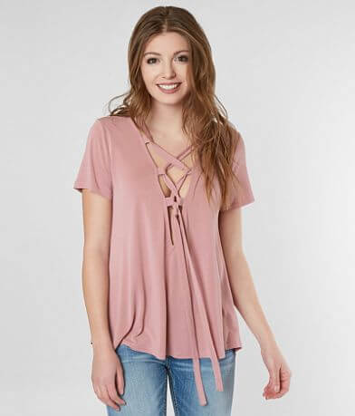 red by BKE Lace-Up Top