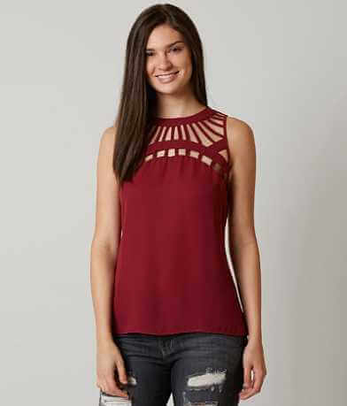 red by BKE Chiffon Tank Top
