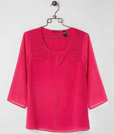 red by BKE Chiffon Top