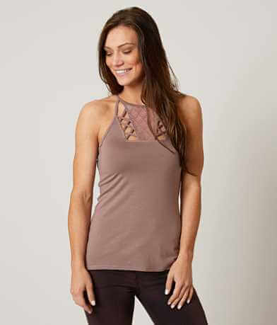 red by BKE Cut-Out Tank Top