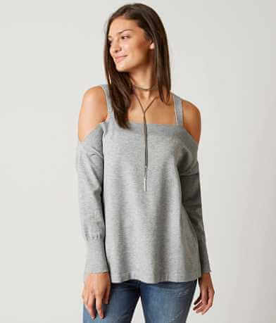 red by BKE Cold Shoulder Sweater