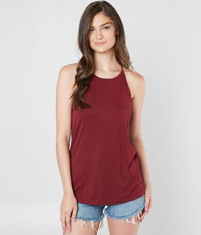 red by BKE High Neck Tank Top