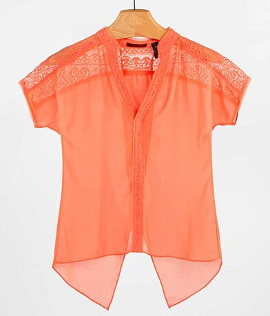 red by BKE Pieced Lace Top