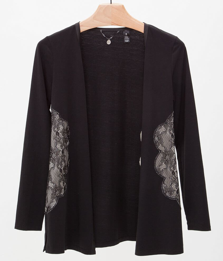 BKE Boutique Pieced Cardigan front view