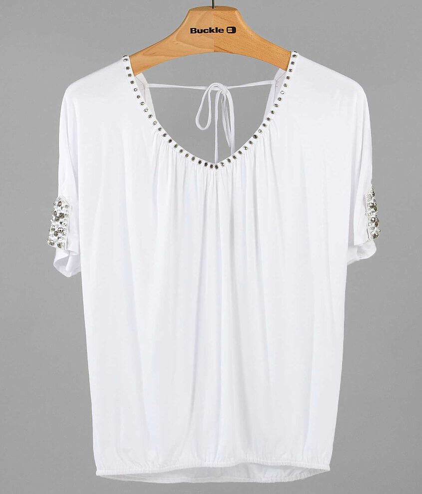 BKE Boutique Beaded Top front view