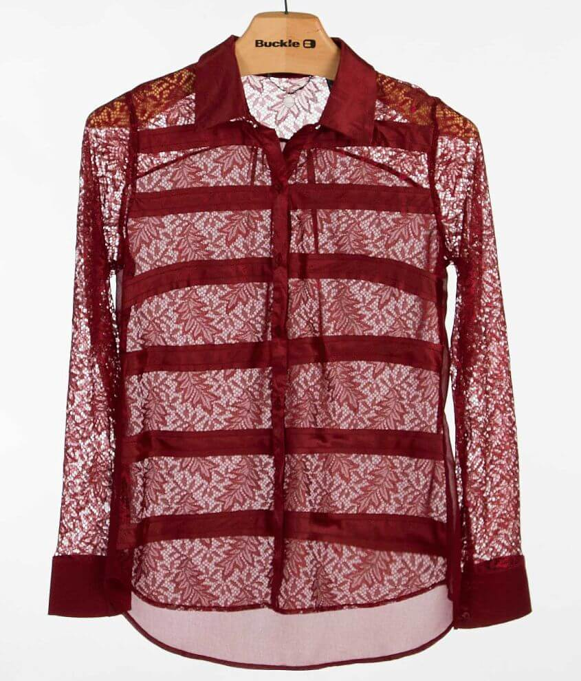 BKE Boutique Pieced Shirt front view