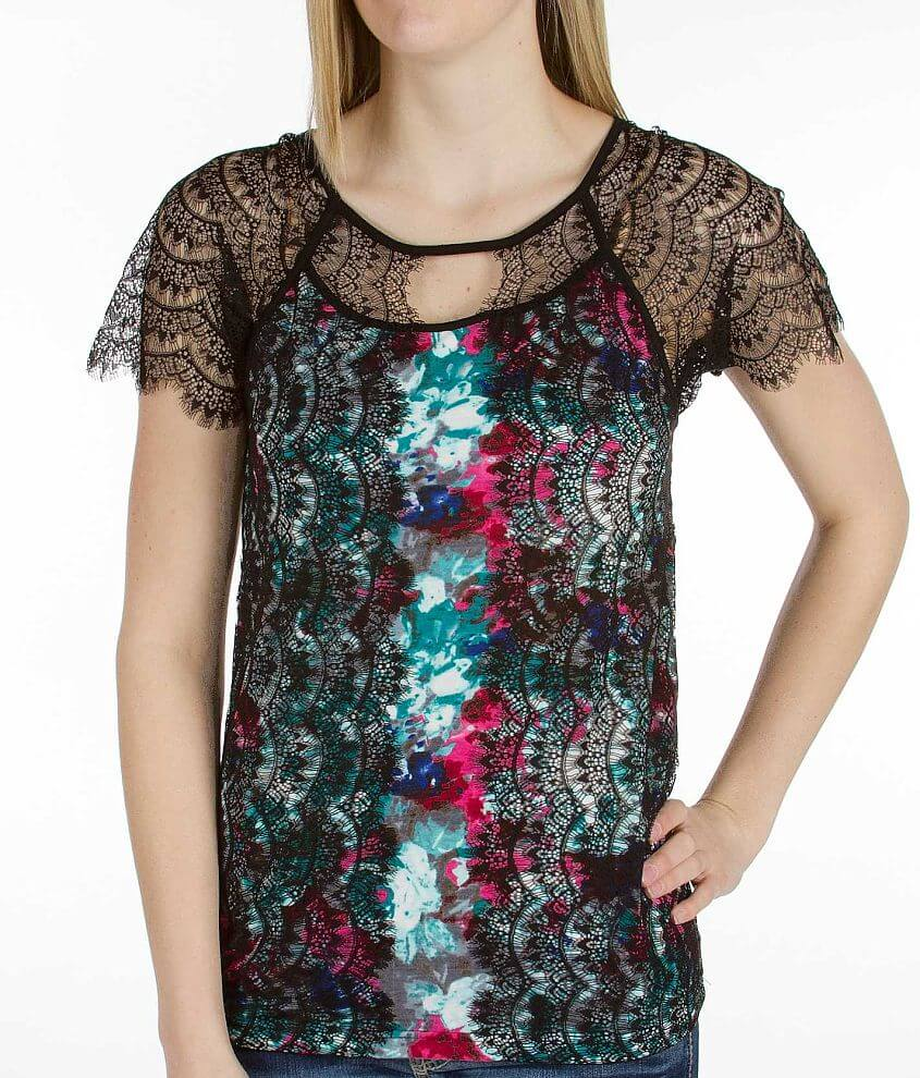 BKE Boutique Printed Top front view