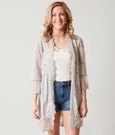 BKE Boutique Lace Cardigan
