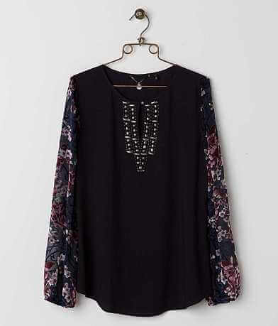BKE Boutique Beaded Top