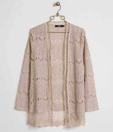 BKE Boutique Crochet Cardigan