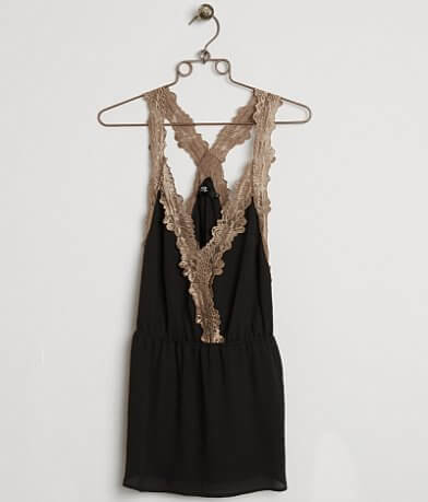 BKE Boutique Chiffon Tank Top