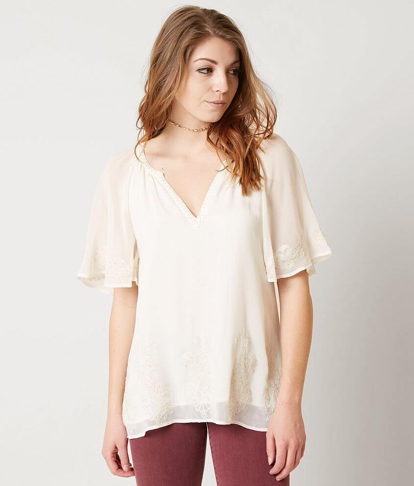 BKE Boutique Embroidered Top front view