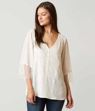 BKE Boutique Gauze Top