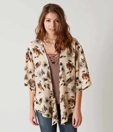 BKE Boutique Floral Cardigan