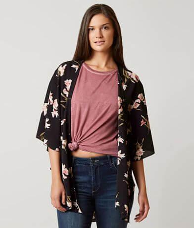 BKE Boutique Floral cardigan