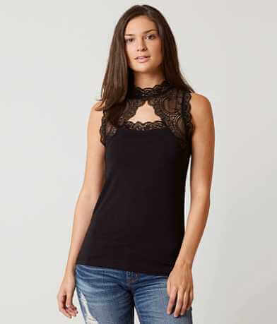 BKE Boutique Mock Neck Tank Top