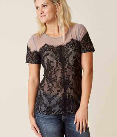 BKE Boutique Mesh Top