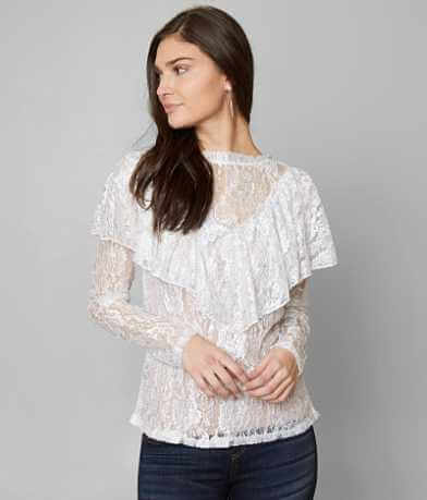 BKE Boutique Ruffle Top