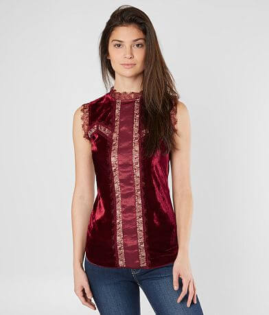 BKE Boutique Velvet Tank Top