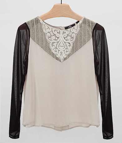 BKE Boutique Lace Shirt