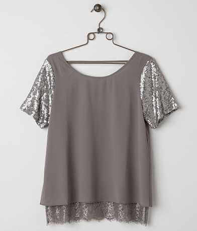 BKE Boutique Sequin Top