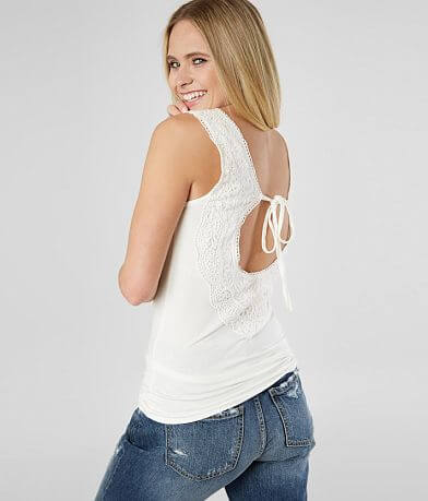 Daytrip Crochet Lace Applique Tank Top