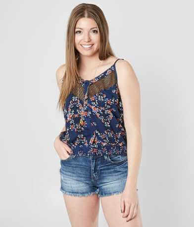 Gimmicks Floral Woven Tank Top