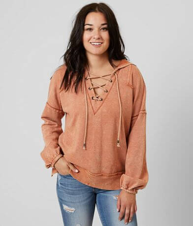 Gilded Intent Lace-Up Sweatshirt