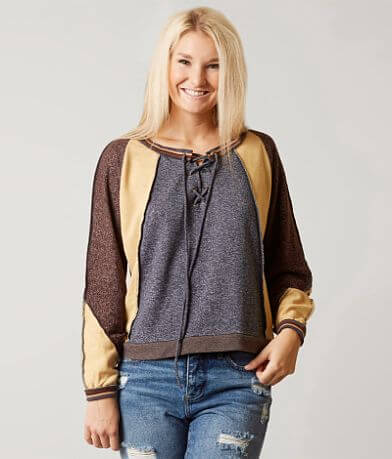 Gilded Intent Color Block Sweatshirt