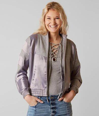 Gilded Intent Pieced Bomber Jacket