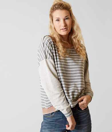 Gilded Intent Striped Sweatshirt