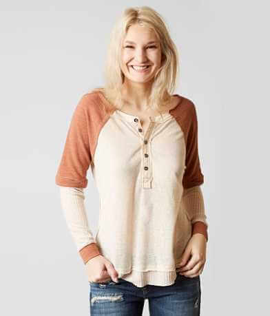 Gilded Intent Thermal Henley Top