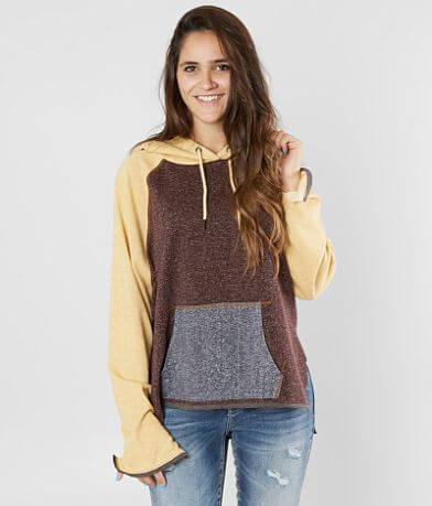 Gilded Intent Color Block Hooded Sweatshirt