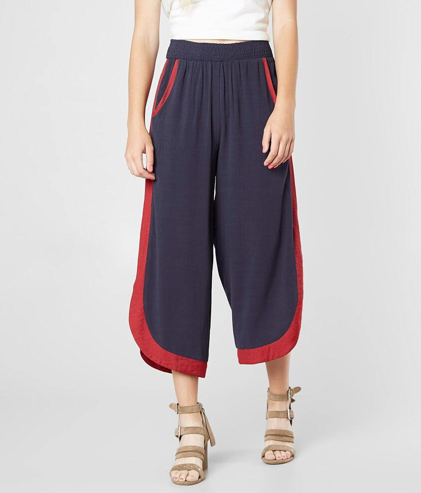 Gilded Intent Wide Leg Cropped Pant front view