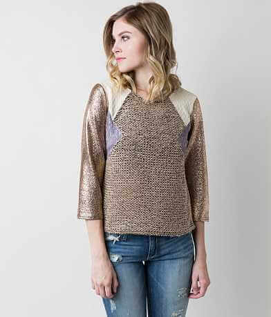 Gimmicks Open Weave Pieced Top