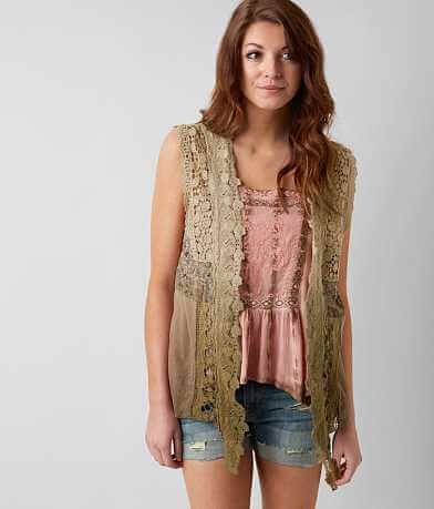 Gimmicks Dip Dye Crochet Vest