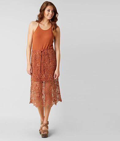 Gimmicks Crochet Overlay Dress