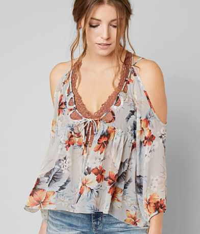 Gimmicks Floral Chiffon Top