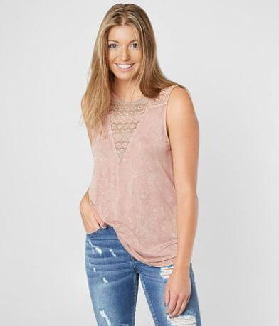Gimmicks Washed Scoop Neck Tank Top