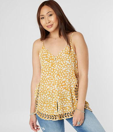 Gimmicks Embroidered Cut-Out Tank Top