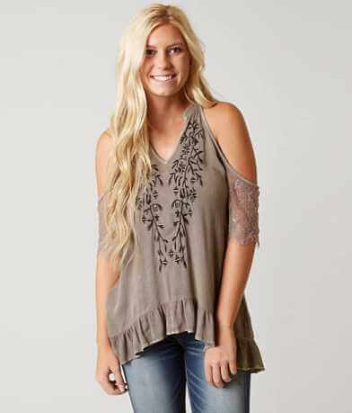 Gimmicks Embroidered Crinkle Top