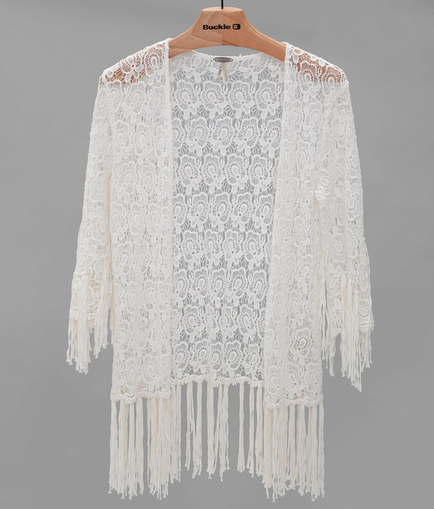 Gimmicks by BKE Lace Cardigan - Women's Cardigans in Cream | Buckle